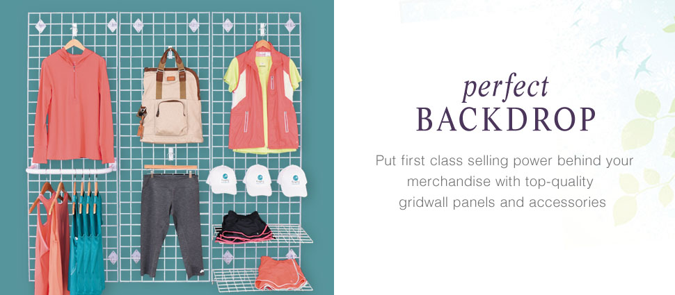 Put first class selling power behind your merchandise with top-quality gridwall panels and accessories