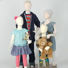 Kid mannequins and forms