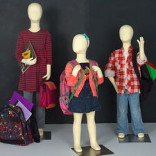 Children mannequins and forms
