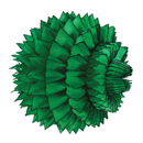 green paper aztec ball hanging paper decorations