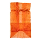 Sinamay pouch orange
