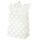 Polka Dot Pearl Shopping Bag 8x4-3/4x10-1/2