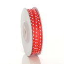 Red Satin Dot Ribbon