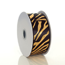 Metallic Zebra Print Ribbon
