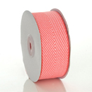 Coral Herringbone Ribbon