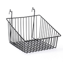 Black sloping basket