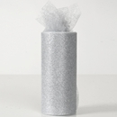 Sparkle tulle ribbon silver