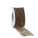 Leopard sheer ribbon