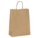 kraft paper shopping bag 10x5x13