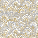 gold & feathers wedding gift wrap