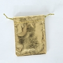 Jewelry pouch metallic gold