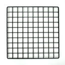 Plastic grid black 14x14