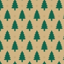 little trees kraft holiday gift wrap