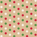 dotty christmas holiday gift wrap