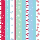 snowflake stripe holiday gift wrap