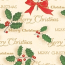 scripted holly holiday gift wrap
