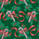 ribbons and canes holiday gift wrap