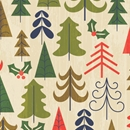 tree farm holiday gift wrap