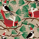 snowbirds kraft holiday gift wrap