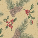 pine on kraft holiday gift wrap