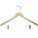 Flat wooden suit hanger natural