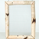 Frame with wire mesh