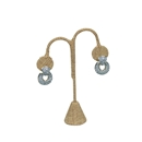 Burlap Medium Earring Tree