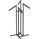 Garment rack textured black