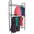 Ladder system wall rack