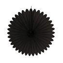 black paper fan hanging paper decorations