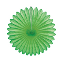 green paper fan hanging paper decorations
