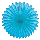 bright blue paper fan hanging paper decorations