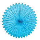 turquoise paper fan hanging paper decorations