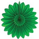 green paper flower hanging paper decorations