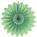 lime paper flower hanging paper decorations
