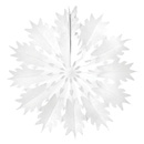 white paper snowflake hanging paper decorations