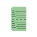 light green tag unstrung price tags
