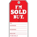 3-1/8x6-3/4 Sold slit tag
