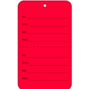 red tag with string price tags