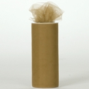 Tulle ribbon antique gold