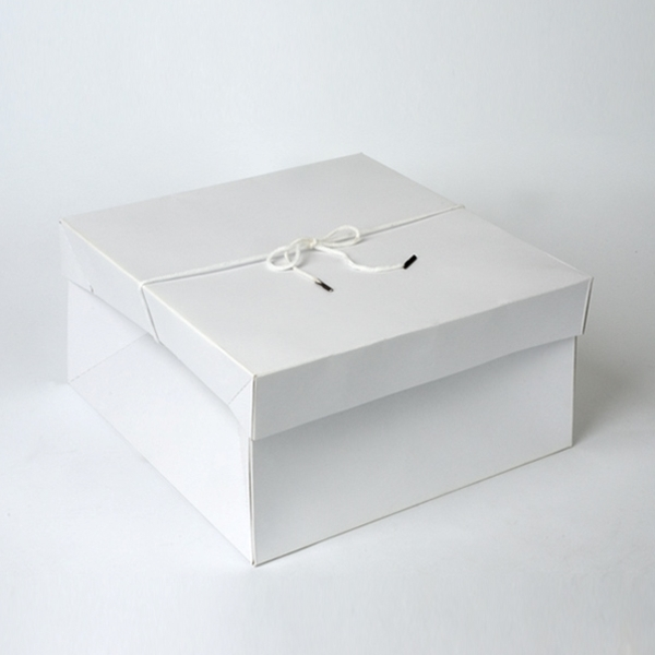 """White 14/"""" x 14/"""" x 7/"""" Hat Boxes with Handles Case of 25"""