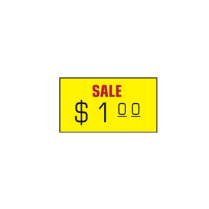 Yellow sale removable label