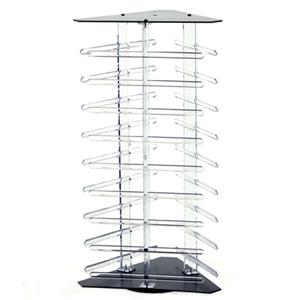 Revolving earring display holds 108  2inch cards