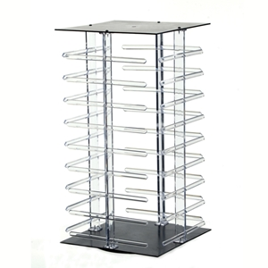 Revolving earring display holds 144 2inch cards