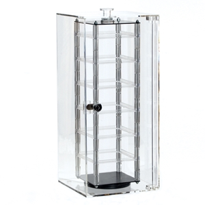 Revolving earring security case