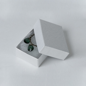 Jewelry box earring White
