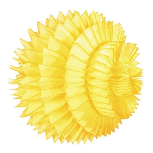 yellow paper aztec ball hanging paper decorations