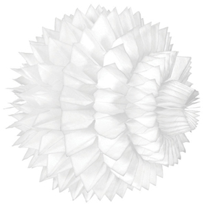 white paper aztec ball hanging paper decorations