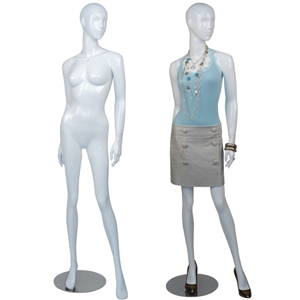 white abstract mannequin