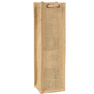 Jute wine bag natural